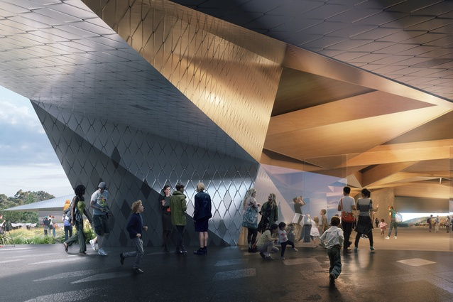 An entry to the proposed Penguin Parade Visitor Centre by Terroir