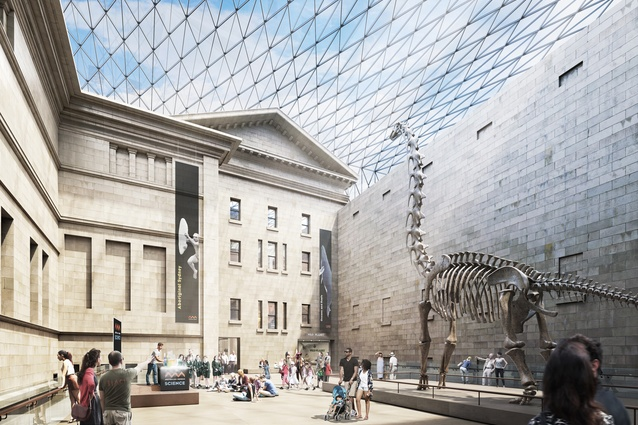 The proposed redevelopment of the Australian Museum, masterplanned by Hames Sharley, will include a grand hall in the middle of the site.