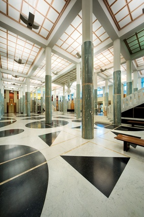 Australian Parliament House by Mitchell Giurgola and Thorp, 1988.