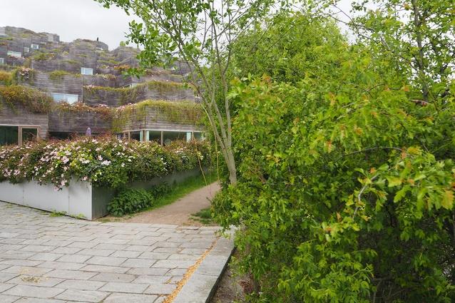 Mountain Dwellings by Bjarke Ingels Group and JDS Architects, Ørestad, Copenhagen (2008).