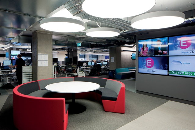 Meeting spaces within the open plan office mean staff are never far off the information and news flow.