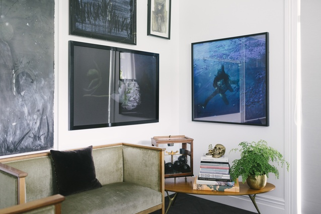 Art, books and homewares are an essential part of Cruz's collection.