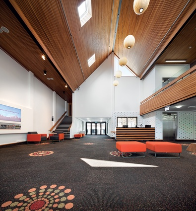 Guy Natusch's 1970s theatre and foyer have undergone a makeover.