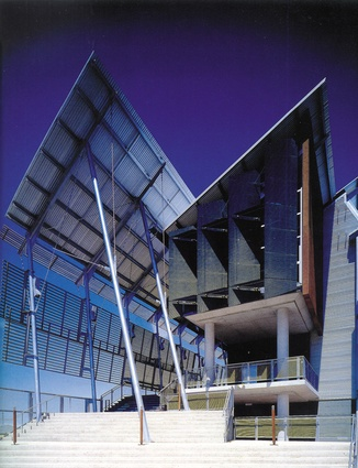 Opening: Sunshine Coast University Library, Maroochydore, Qld (1997), in association with John Mainwaring and Associates, 1998 RAIA Sir Zelman Cowen Award for Public Building.