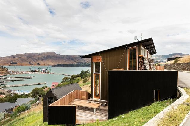 Small Project Architecture Award: Lyttelton Studio Retreat by Bull O'Sullivan Architecture. North elevation.