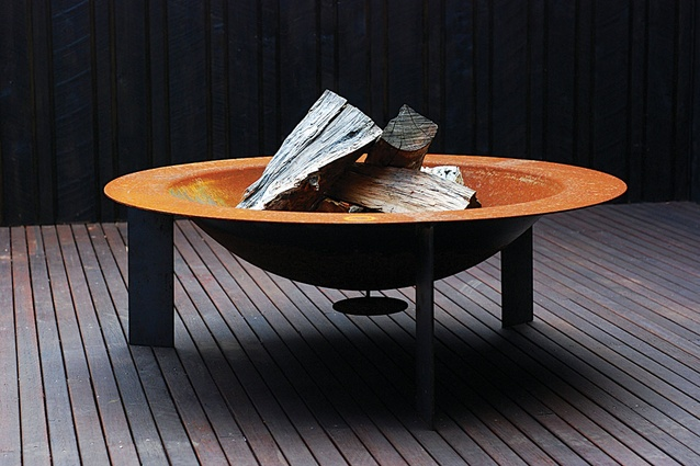 A steel outdoor firepit was one of the pieces that started LifeSpace Journey.