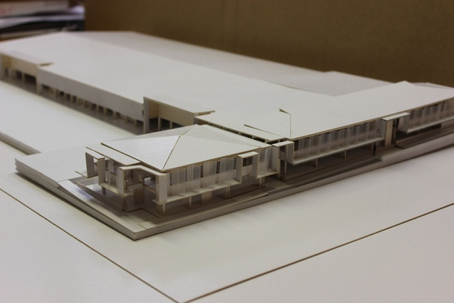 An early design model of the Queen Street development.