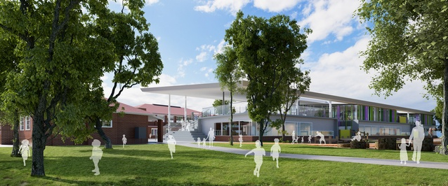 The proposed South Melbourne Park Primary School by Gray Puksand.