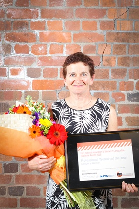 Winner of the Professional Woman of the Year Award (construction category): Lynne Makepeace of Fletcher Construction.