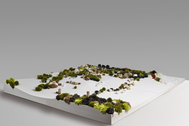 A model of the Kangaroo Island tourist resort designed by Parti.