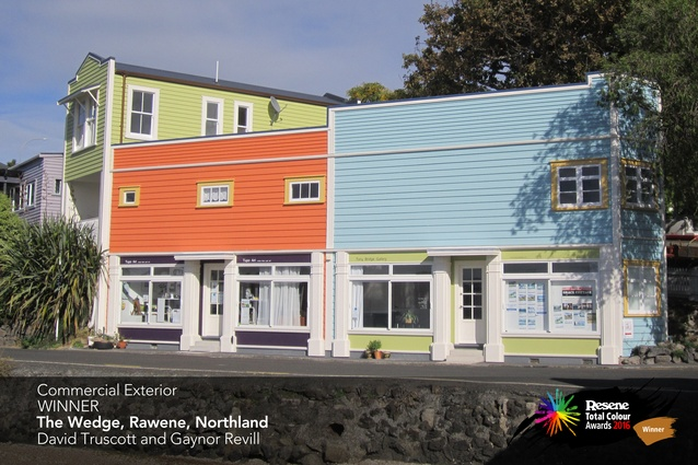 Commercial Exterior Award winner: The Wedge, Rawene, Northland by David Truscott and Gaynor Revill.