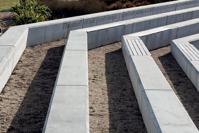 Concrete seating.