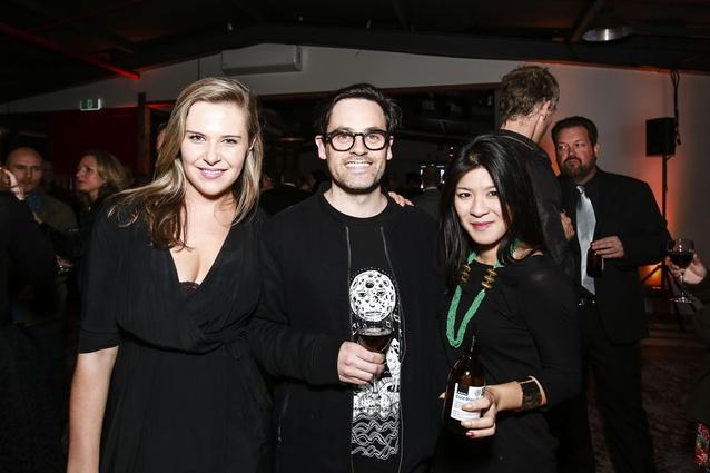 L to R: Lottie Vandervis of Athfield Architects, Aaron Paterson and Liz Tjahjana of Glamuzina Paterson Architects.