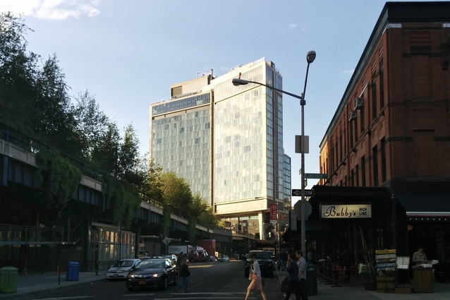 The first section of the High Line which opened in 2009 begins at Gansevoort Street in Manhattan's West Village.