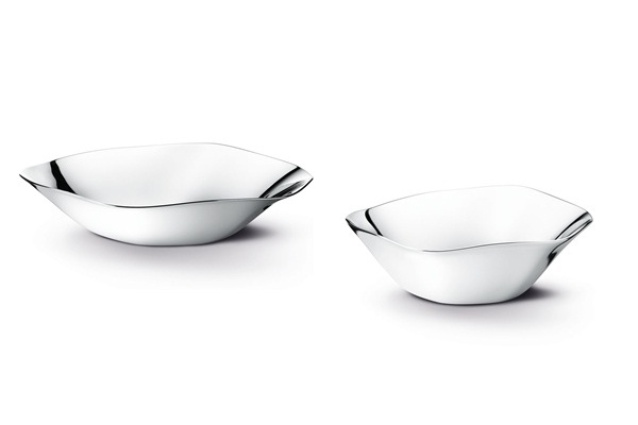 Liquid bowls and trays by Georg Jensen.