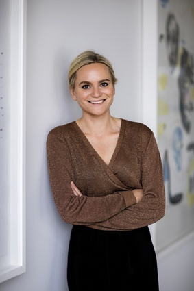 Curator Sophie Wallace.