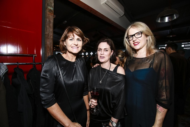 L to R: Judy Court of Jasmax, Kim Lempriere of David Shaw and Sarah Fox of James Dunlop Textiles.