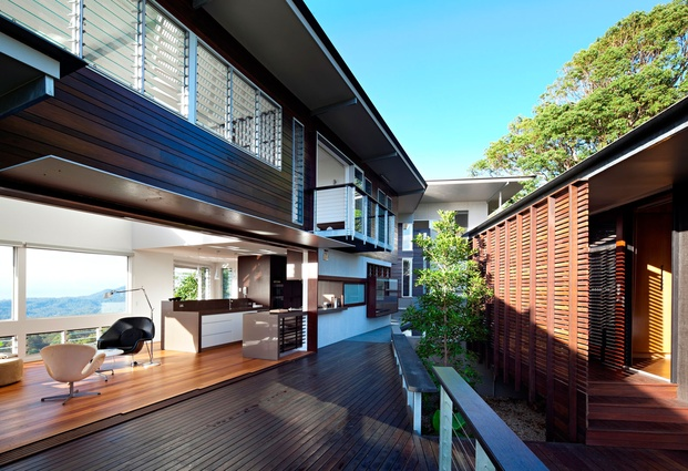 Residential Exterior commendation: Glass House by Bark Design.