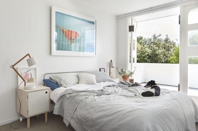 <em>Orange Bird</em>, an artwork by Brian in a bedroom.