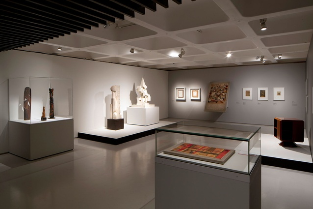 Sculptures reflecting the fine and applied arts  background of the Bauhaus.