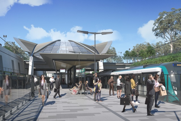 Sydney Metro Northwest's Cudegong Road station, designed by Hassell.