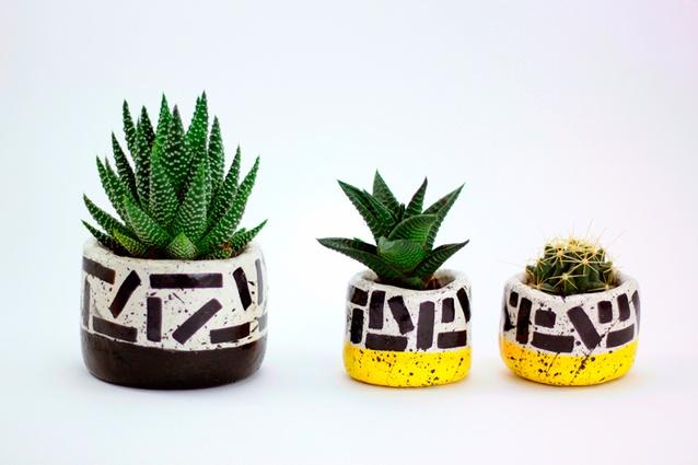 """Handmade El-Aich planters I $27 from  <a  href=""""http://www.el-aich-designs.com/"""" target=""""_blank""""><u>el-aich-designs.com</u></a>"""