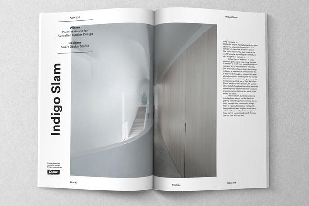 Inside Artichoke issue 59.