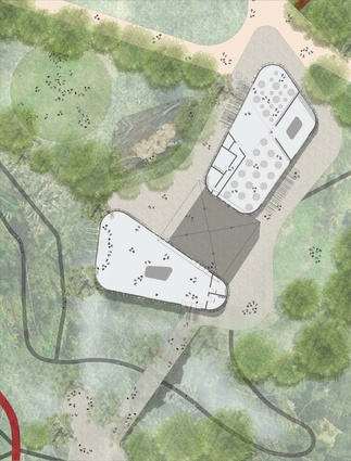 Masterplan of the proposed new visitor centre for the Australian National Botanic Gardens by Taylor Cullity Lethlean and Tonkin Zulaikha Greer.