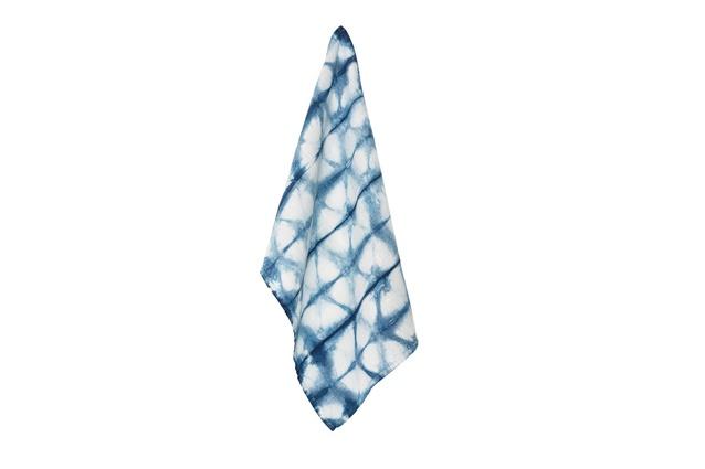 Shibori Indigo Kaleidoscope Tea Towel by Birdkage | $70.30 plus shipping for a set of two.