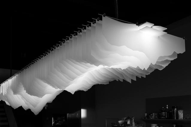 Finalist: Craftsmanship – Undulatus Bespoke Hanging Lamp by Inside Design.