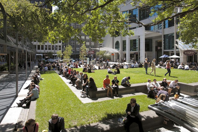Midland Park's revitalised grass and planting create a greater sense of open space.