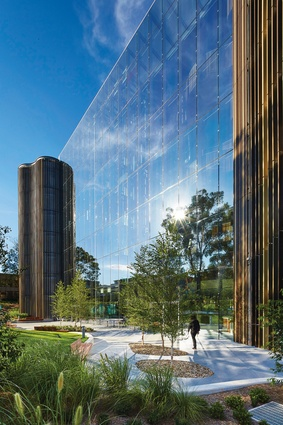 One of the main design drivers of the project was to ensure that it contributes to the urban qualities of the Macquarie Park business hub in Sydney's north-west.