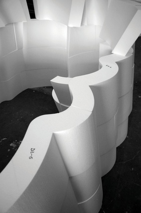 Foam sections of Periscope Tower by Supermanoeuvre.