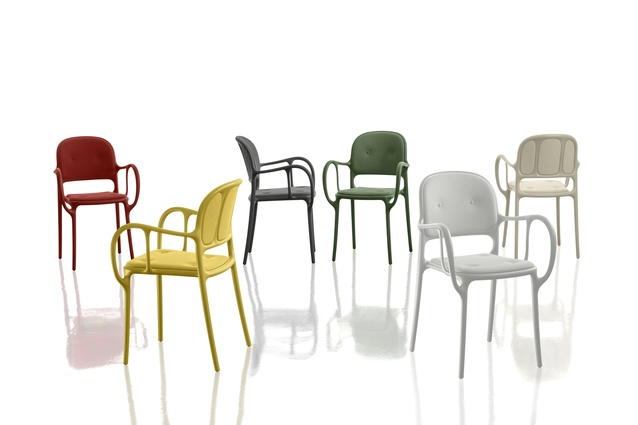 Mila chair designed by Jaime Hayon, part of Magis' 2016 collection.