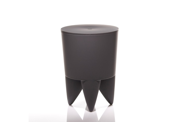 Bubu storage stool in charcoal grey.