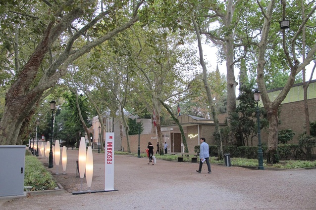 The park-like setting of the Biennale Giardini.