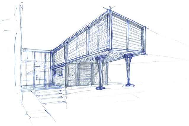 The architect's concept sketch.
