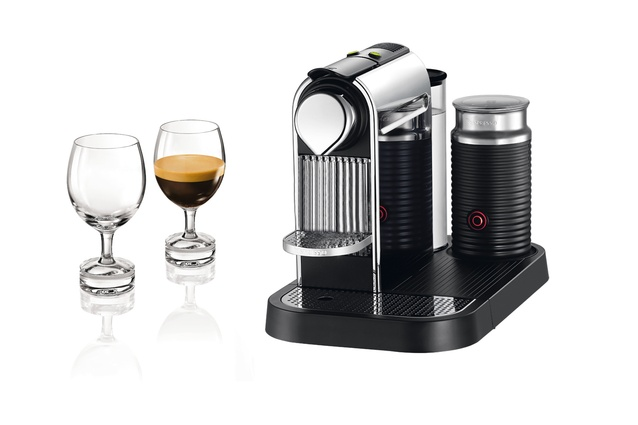 The Nespresso Citiz & Milk Breville chrome machine.