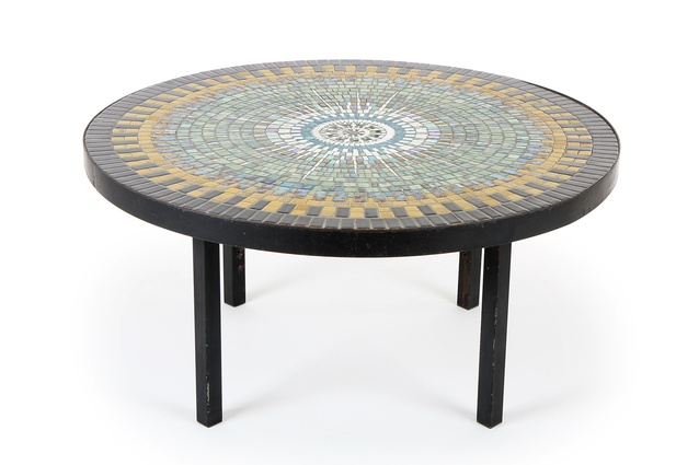 Mosaic tile coffee table by John Crichton.