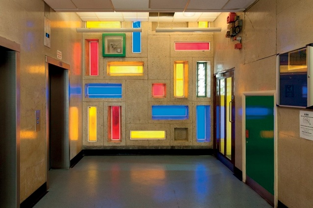 Lobby interior of Trellick Tower.