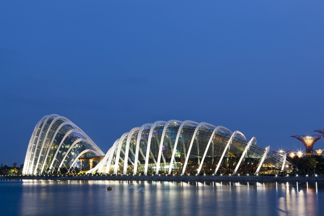 World Building of the Year at WAF 2012, Cooled Conservatories at Gardens by the Bay, designed by Wilkinson Eyre, Grant Associates, Atelier One and Atelier Ten.