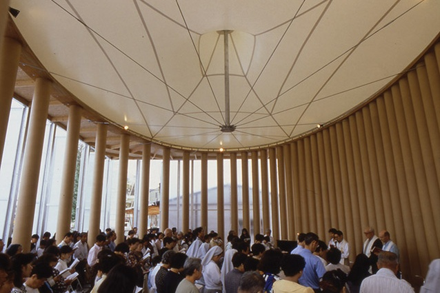 Paper Church in Kobe, Japan, by Shigeru Ban, 1995.