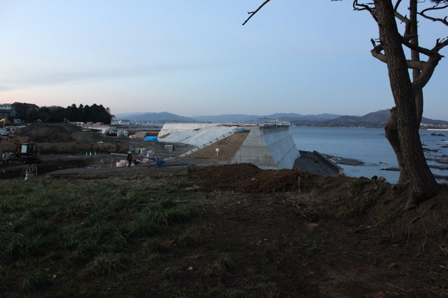 The seawall at Hashikami National Park.