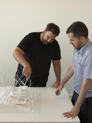 Sebastián Adamo at work.