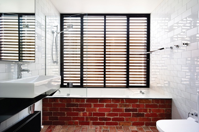 Recycled bricks in the Northcote residence.