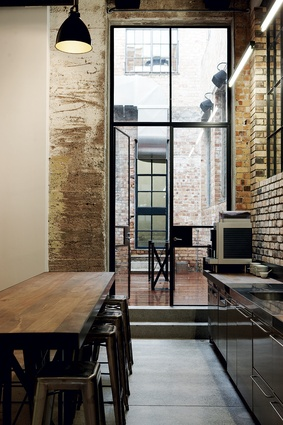 A small courtyard provides a point of focus for social and meeting areas.