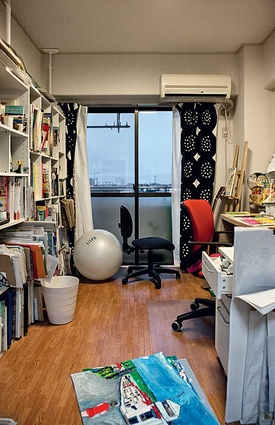 Ogawa's studio space.
