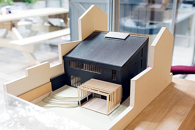 An architectural model in Atelier du Pont.