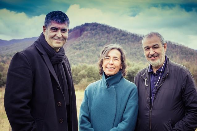 Rafael Aranda, Carme Pigem and Ramon Vilalta of RCR Arquitectes.