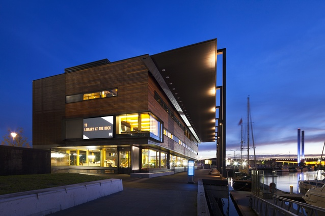 Library at The Dock (Vic) by Clare Design + Hayball (Architect of Record).